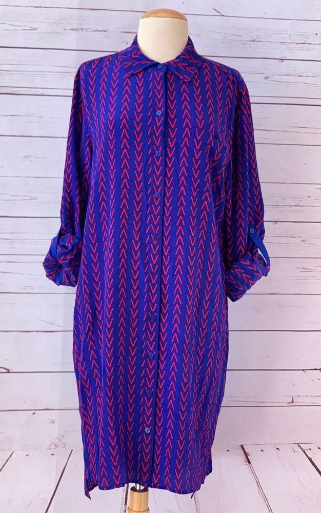 44761454db DIANE VON FURSTENBERG Size 14 Prita Silk Shirt Dress NWT  368   DianevonFurstenberg  ShirtDress