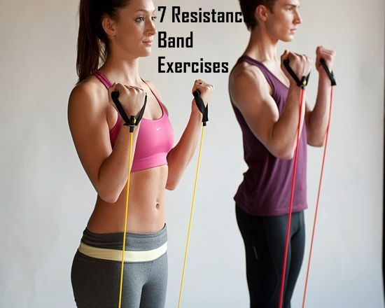 7 Resistance Band Exercises I'll be doing tonight while I catch-up on TV shows...:)