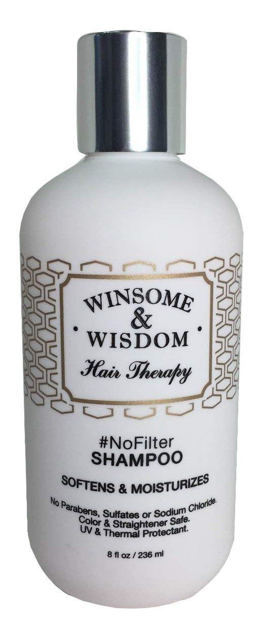 -NoFilter-Moroccan Argan Oil Shampoo-8 oz.-Winsome and Wisdom-Softens and Moisturizes-No Parabens-No Sulfates-No Sodium Chloride-Color and Straightener Safe-UV and Thermal Protectant >>> Click on the image for additional details.
