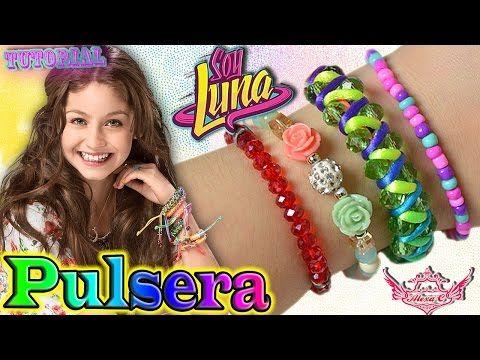 """♥ Tutorial: Pulsera de Luna/Karol Sevilla    """"Soy Luna"""" ♥ - YouTube Lindo el tutorial ☺☺☺"""