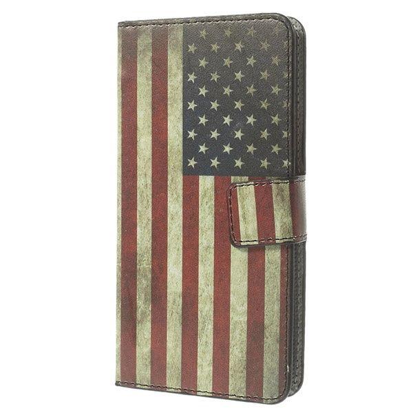 LG G3 S Pung Læder Taske - Vintage Amerikansk Flag