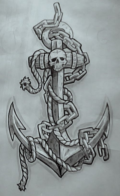 Tattoo designs cool tattoos tatoo pinterest anker tattoo - Navy Anchor Tattoos Anchor Tattoo Designs Arts