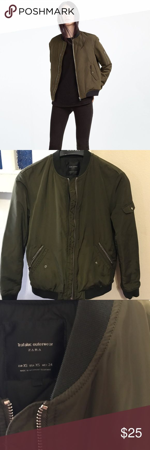 Zara Bomber Jacket • In great used condition.  • All major flaws shown. ‌• More pictures upon request.  ‌• Open to offers ⭐️ Zara Jackets & Coats