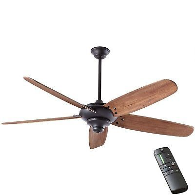 Ceiling Fans 176937 Home Decorators Altura Dc 68 In Indoor Matte Black Fan W Remote It Now Only 199 95 On