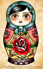 Saw a girl with a nesting doll tattoo years ago and it stuck in my mind.