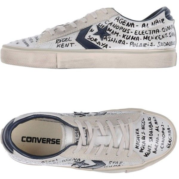 Converse Limited Edition Sneakers ($113) ❤ liked on Polyvore featuring shoes, sneakers, white, colorful sneakers, white flat shoes, animal trainer, leather flat shoes and flat shoes