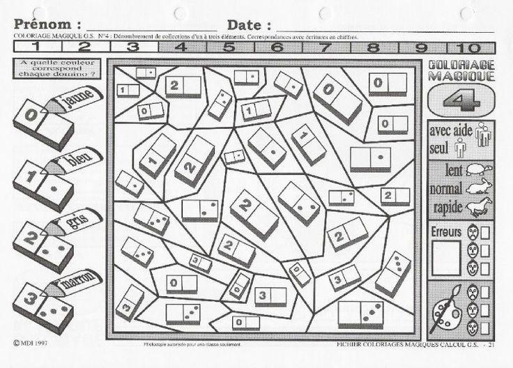Les 35 meilleures images du tableau maths gs sur pinterest maternelle maths maternelle et noms - Coloriage maths ...