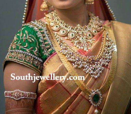 traditional bridal jewellery-gutta pusalu,kasaluperu