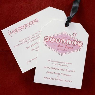Married In Vegas   Invitation   Las Vegas Wedding Invitations