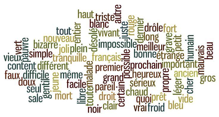 Voici les adjectifs les plus courants et les plus utilisés de la langue française.