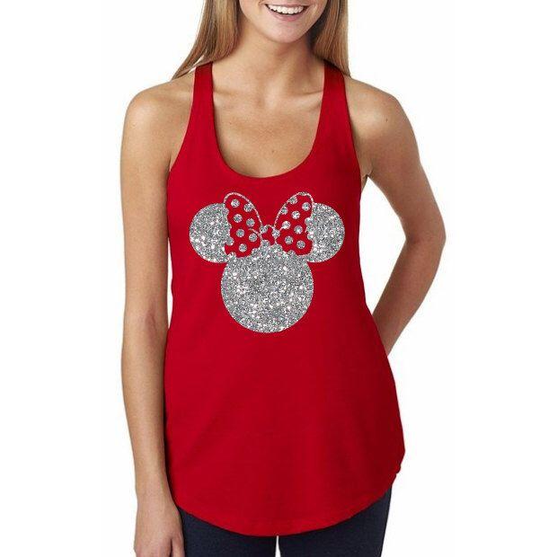 Glitter Disney Minnie Mouse Shirt // Minnie Ears Shirt // Mickey Ears // Disney…