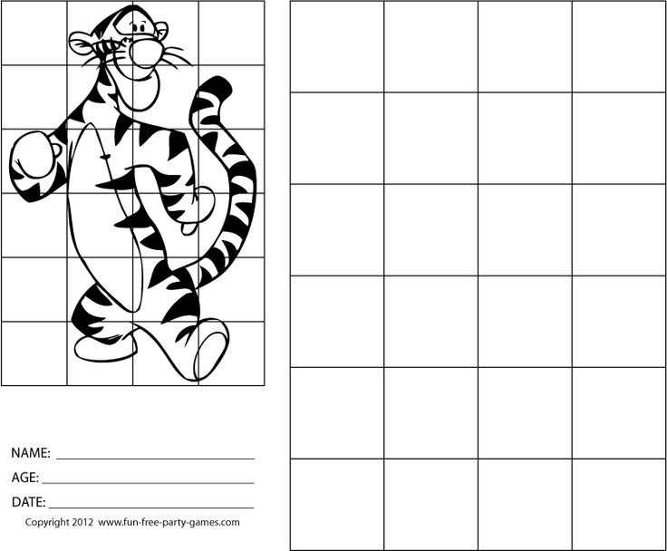 Tigger grid drawing drawing with grids winnie the pooh tigger wants to run
