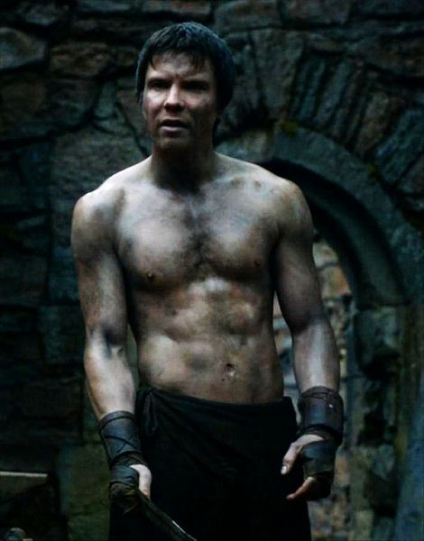 Gendry, apparently the only still-living bastard of King Robert Baratheon (played by Joe Dempsie)