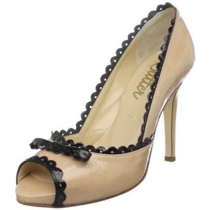 Butter Women`s Sylvester Platform Pump,Nude/Black Patent,11 M US $154.00