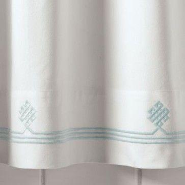 Aqua Gobi Shower Curtain - traditional - shower curtains - Serena & Lily