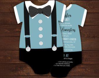 10 invitación lazo negro bebé ducha por LittleBeesGraphics en Etsy