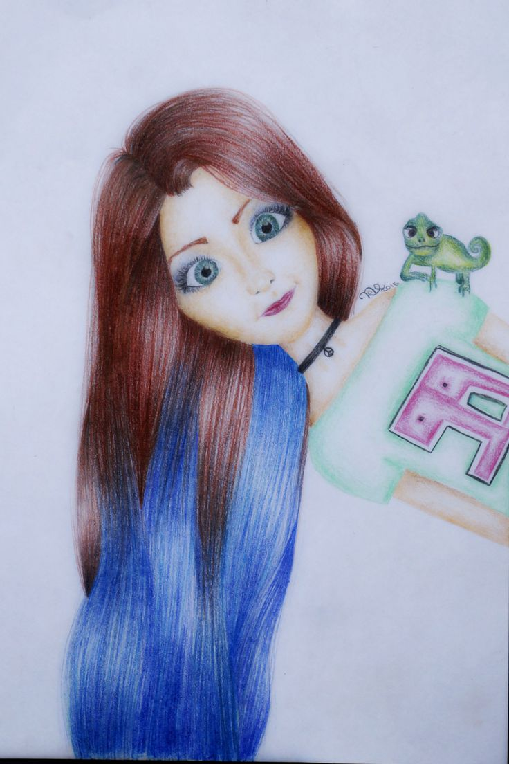 Here is my drawing of modern Rapunzel :) #drawing #rapunzel