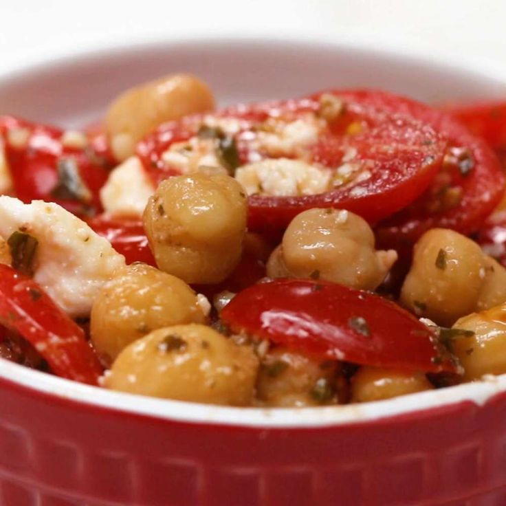 Pesto Chickpea Snack Salad Recipe by Tasty