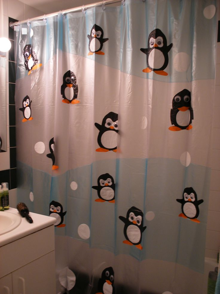 my old penguin shower curtain from target i don 39 t even think they make it anymore. Black Bedroom Furniture Sets. Home Design Ideas