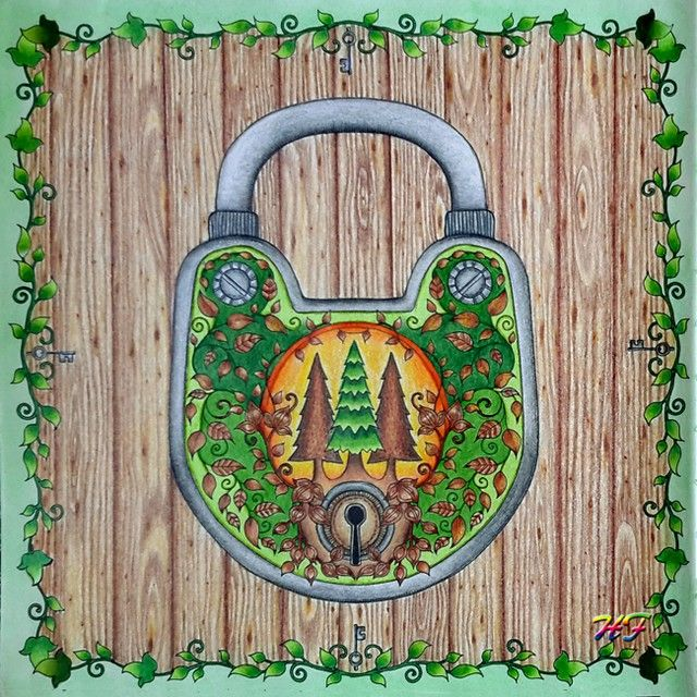 Padlock Enchanted Forest PicturesAdult ColoringColoring BooksColoring