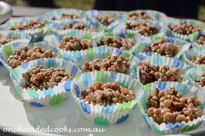 one handed cooks: kids party food: chocolate crackles