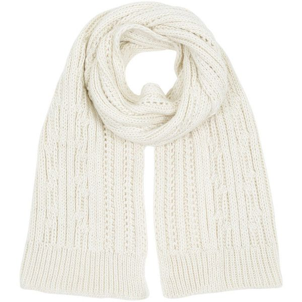 Warehouse Warehouse Cable Knit Scarf ($3.89) ❤ liked on Polyvore featuring accessories, scarves, wrap scarves, wrap shawl, cable knit scarves and cable knit shawl