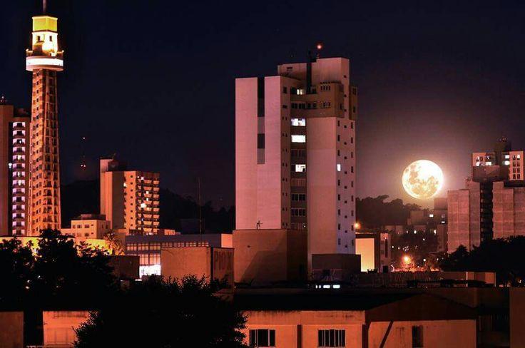 Francisco Beltrão - lua cheia vermelha