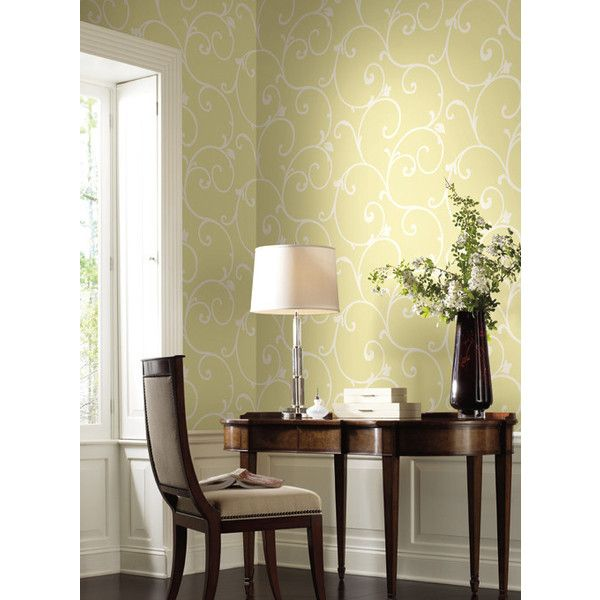 Malabar Wallpaper in Yellows design by Ronald Redding (5,060 INR) ❤ liked on Polyvore featuring home, home decor, wallpaper, bright red wallpaper, red wallpaper, yellow wallpaper, yellow home accessories and yellow home decor