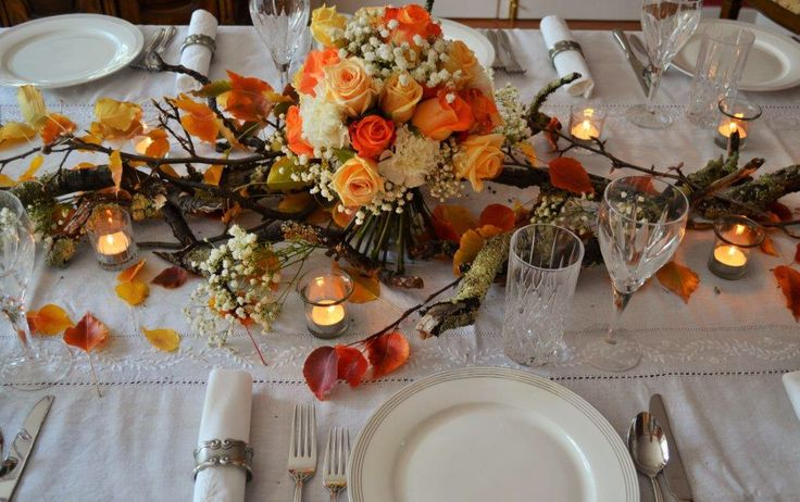 Autumn table centrepieces