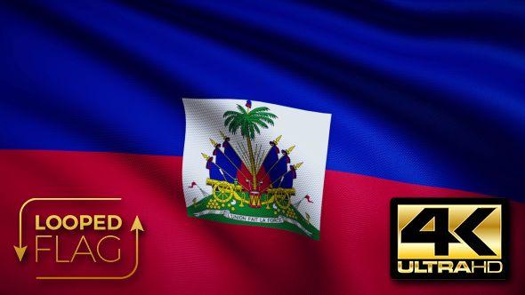 Haiti Flag 4K