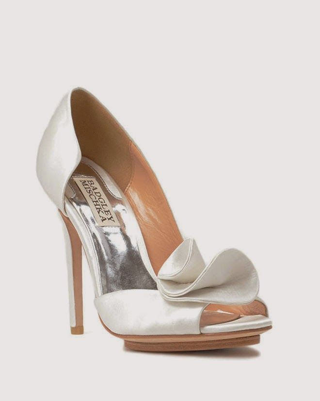 Silver Grey Satin High Heel Court Shoe With Bows