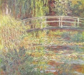 Japanese Bridge at Giverny by Claude Monet