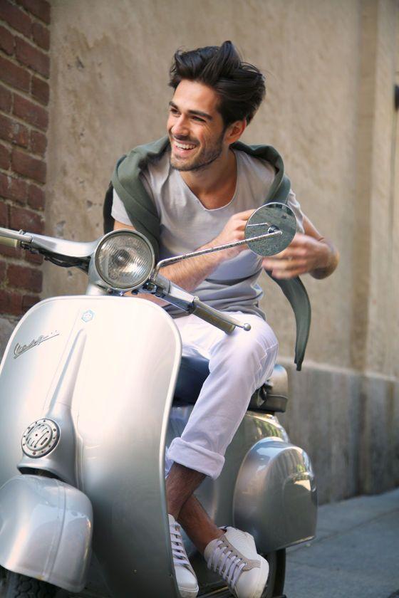 Vespa love - Italian men have style