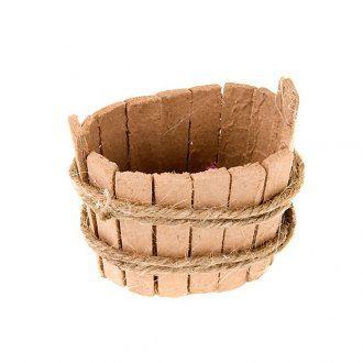 Tinozza ovale in legno per presepe: accessori presepe fai da te | vendita online su HOLYART