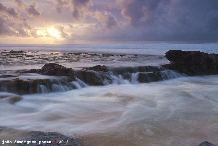 Shot at Praia do Magoito, Sintra, Portugal #Magoito #Sea #Sunset #João Domingues #Rocks #Slow Motion #Sky #Clouds