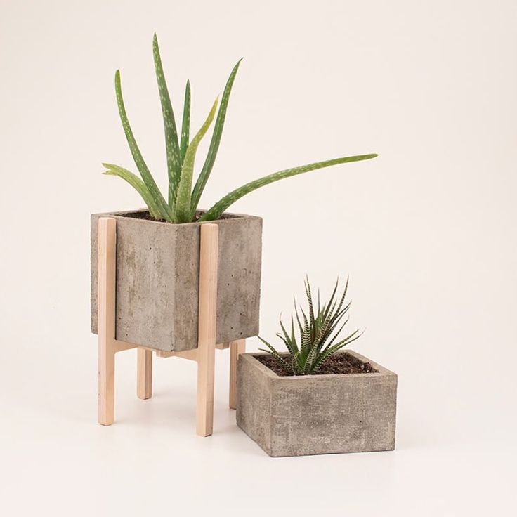 Concrete planters by vakodesign st hle pinterest for Pflanzen wandhalter