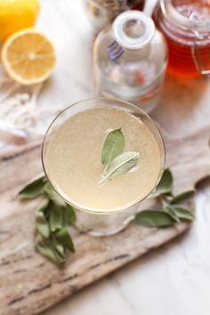 Sage Bee's Knees Cocktail | http://saltandwind.com