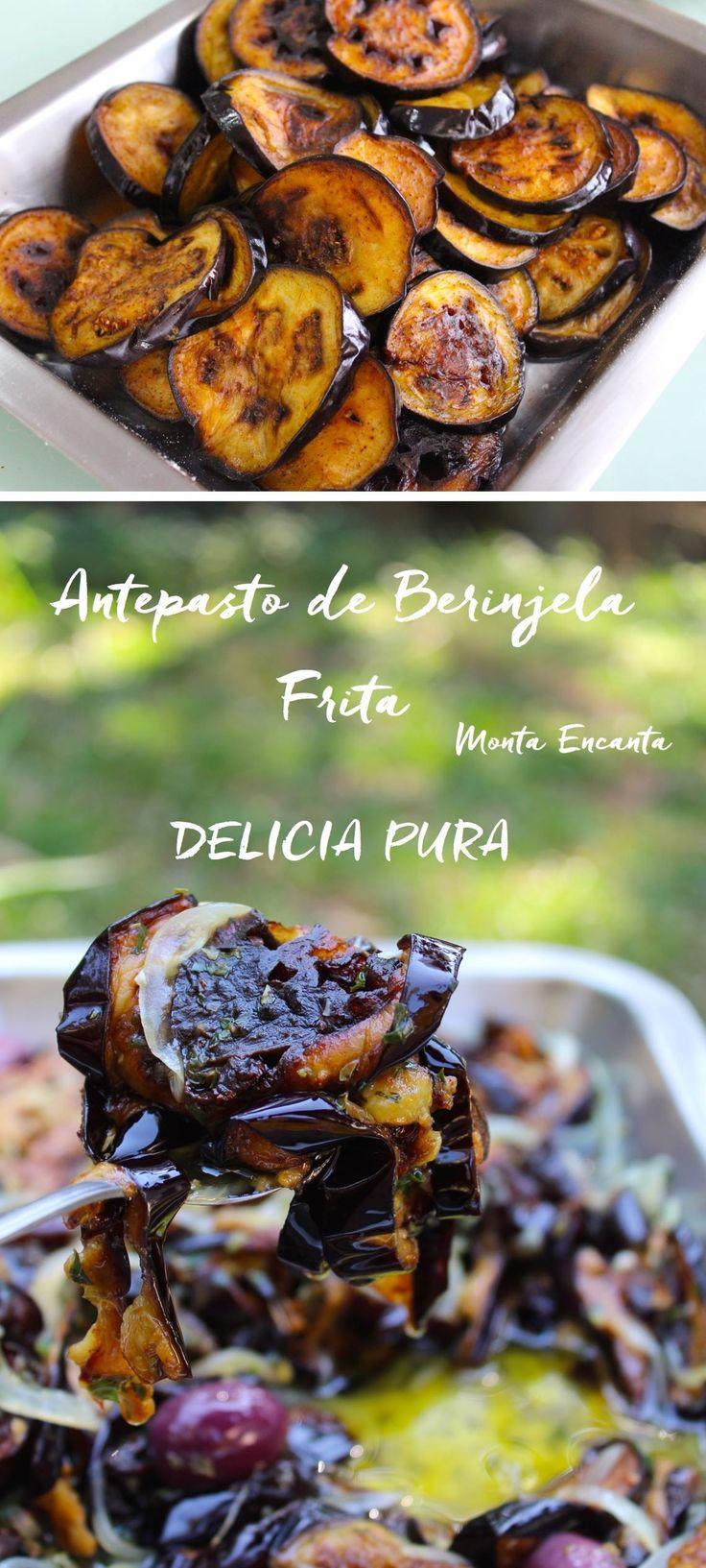 Antepasto de Berinjela frita vai bem tanto com pão caseiro, quanto com macarrão al dente. Fácil de fazer e incrivelmente saboroso!