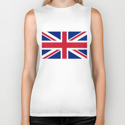 UK FLAG - The Union Jack Authentic color and 3:5 scale  Biker Tank by LonestarDesigns2020 - Flags Designs + - $28.00