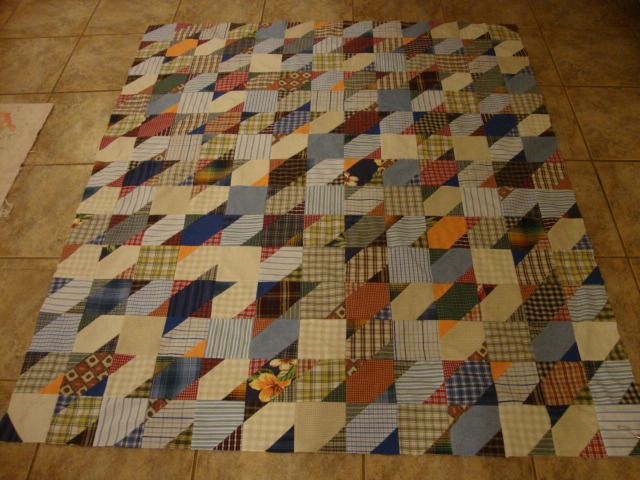 Smoky Mountain Stars recycled shirts quilt-- main part done.