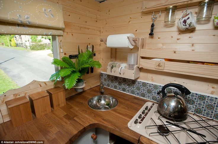 Despite being a van and not connect to a mains water supply, the van still has a sink with water, which the couple can use to fill up their kettle