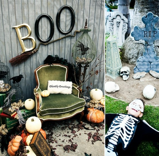 lots of fun outside/porch Halloween decorations ideas: Halloween Parties, Vintage Halloween, Halloween Decor, Halloween Photo Booths, Boo Signs, Halloweendecor, Photo Shoots, Photo Backgrounds, Outside Decor