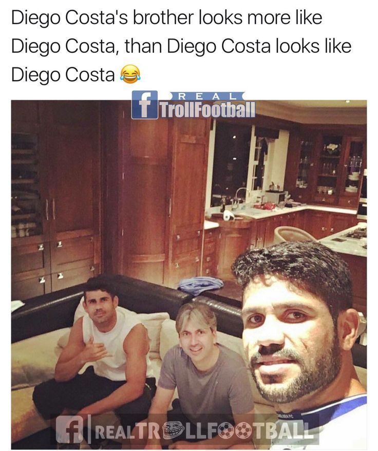 Diego Costa's brother look more like Diego Costa then Diego Costa looks like Deigo Costa
