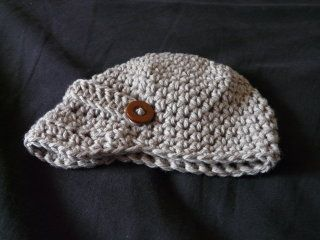 Newsie Baby Hat Pattern (Crochet)