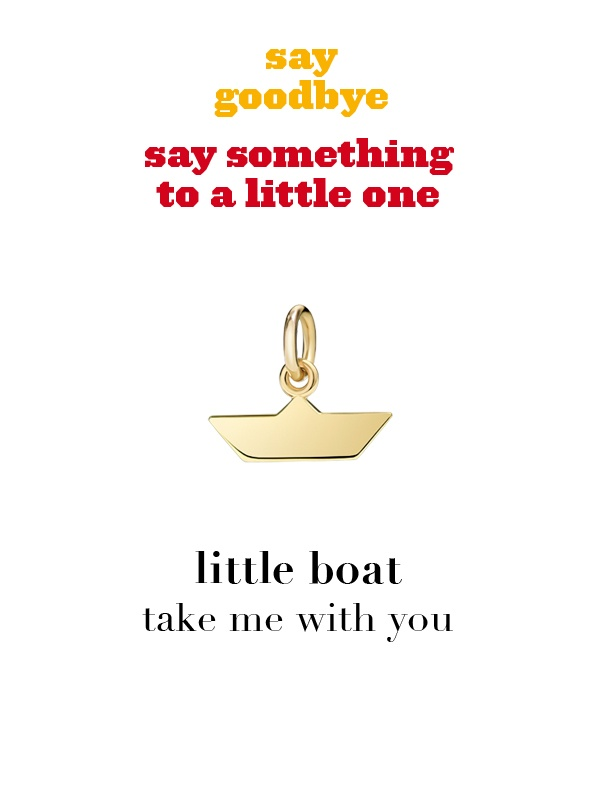Dodo charm: little boat - take me with you