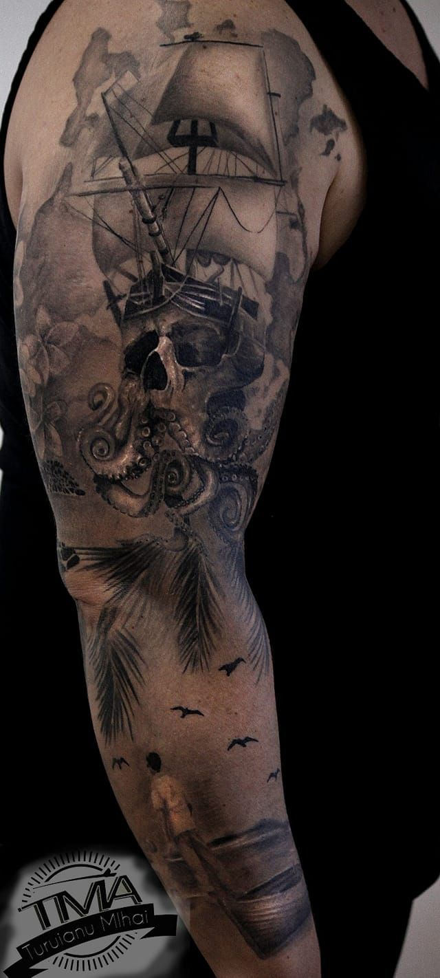 Realistic tattoo / tatuaje realistice greywash