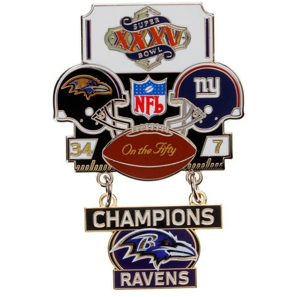 Baltimore Ravens WinCraft Super Bowl XXXV Champions On the Fifty Pin - $16.99