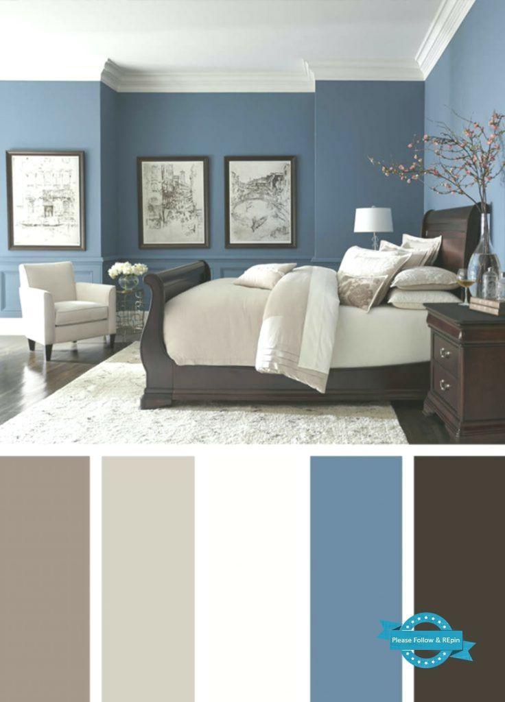 Blue Walls Dark Floors Bright Neutrals Master Bedroom Colors Bedroom Wall Colors Modern Master Bedroom Small bedroom colour ideas