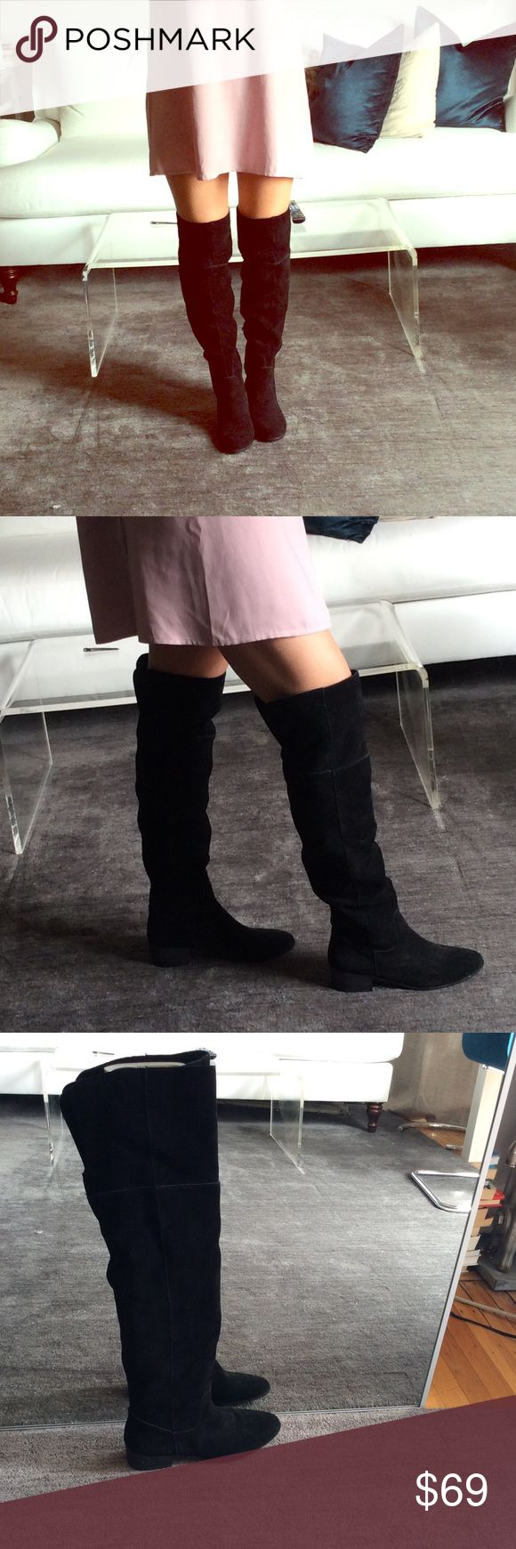 Steve Madden Tyga Over The Knee Black Boots 8.5 Black Suede Steve Madden Tyga Over The Knee Boots 8.5 Great with leggings, a sweater dress, skinny jeans, so versatile! Brand new, never worn! Steve Madden Shoes Over the Knee Boots