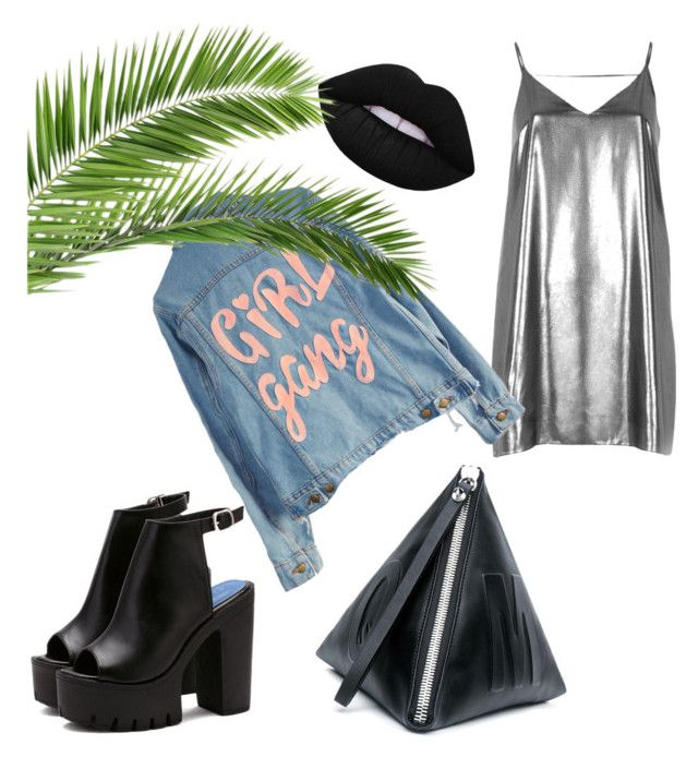 """Girl gang"" by ziasmin on Polyvore featuring River Island, McQ by Alexander McQueen, High Heels Suicide and Lime Crime"